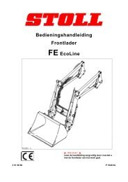 Bedieningshandleiding Frontlader FE EcoLine - Stoll