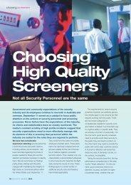 Choosing High Quality Screeners.pdf - Peter Berry Consultancy