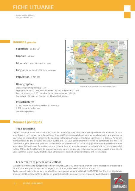 fiche lituanie - ILE-DE-FRANCE INTERNATIONAL