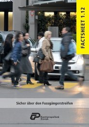 Sicher über den Fussgängerstreifen (PDF, 2 - Kantonspolizei Zürich ...