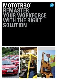 MOTOTRBO™ Solution Brochure - Motorola Solutions