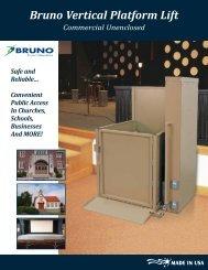 Bruno Vertical Platform Lift - Extended Home Living Services