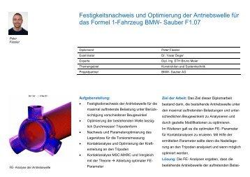 Festigkeitsnachweis und Optimierung der Antriebswelle für ... - umtec