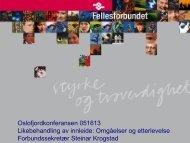 Steinar Krogstad - Fellesforbundet