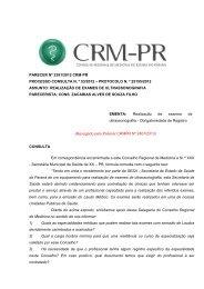 PARECER Nº 2391/2012 CRM-PR PROCESSO CONSULTA N. º 53 ...