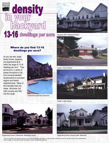 13-16 dwelling units per acre