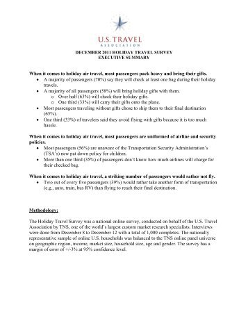 Survey - US Travel Association