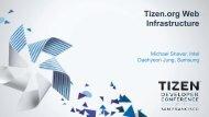 Tizen.org Web Infrastructure