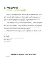 LETTER OF AGREEMENT - Parkview Health Laboratory