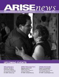 Download the ARISE 2013 Summer Newsletter (PDF – 2280 KB)