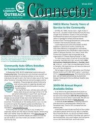 Newsletter winter 2007 - North Hills Community Outreach