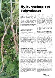 Ny kunnskap om belgvekster - Fagbladet Økologisk Landbruk