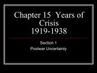 Chapter 15 Years of Crisis 1919-1938