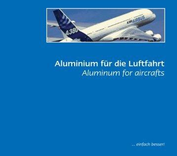 Aluminium für die Luftfahrt Aluminum for aircrafts - easy systems
