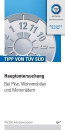 Hauptuntersuchung Bei Pkw, Wohnmobilen und ... - TÜV Süd