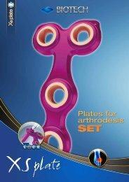 Plates for arthrodesis Plates for arthrodesis - Biotech ortho
