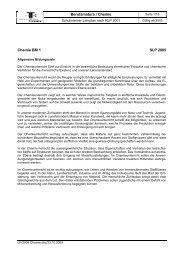 Berufsmatura / Chemie Chemie BM 1 SLP 2005