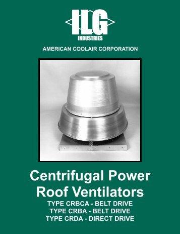 Centrifugal Power Roof Ventilators - American Coolair