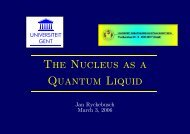The Nucleus as a Quantum Liquid - Theoretical Nuclear Physics and ...