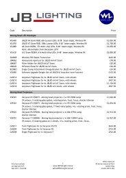 JB Lighting UK Price List September 2011 - WL ... - White Light