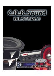 Sound - CARSound Bilstereo