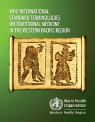 WHO InternatIOnal Standard termInOlOgIeS On tradItIOnal medIcIne