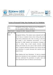Session on Paragraph Writing, Paper Reading and Voice Modulation