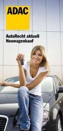 AutoRecht aktuell Neuwagenkauf - ADAC