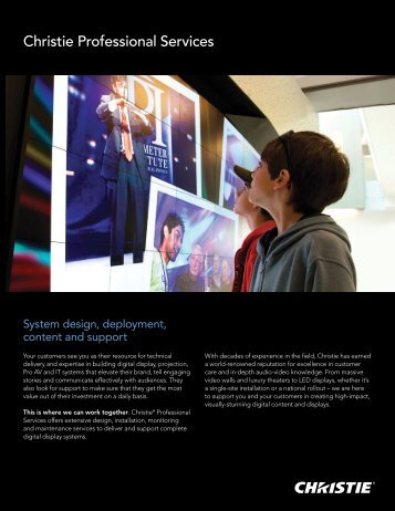 Download the Christie Digital Signage Solutions Brochure