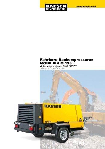 Fahrbare Baukompressoren MOBILAIR M 135