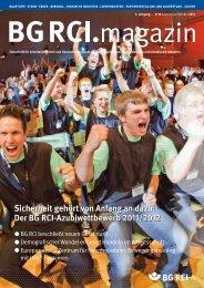 BG RCI Magazin Ausgabe 9/10 2012 - Berufsgenossenschaft ...