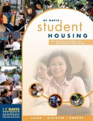 by applying for a spot in the halls - UC Davis Student Housing ...