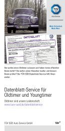 Datenblatt-Service für Oldtimer und Youngtimer - TÜV Süd