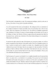 1 Religious Gatheka – Hazrat Inayat Khan 20. Christ The Christ ...