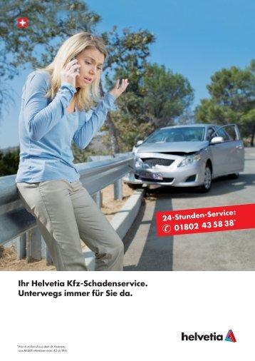 Der Helvetia Kfz-Schadenservice ist für Sie da!