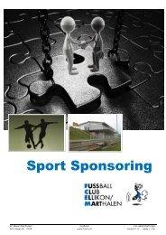 Sport sponsoring Konzept