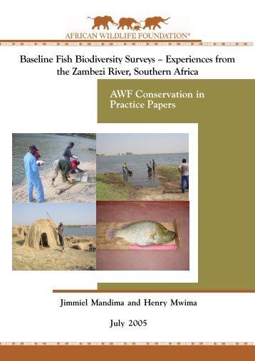 Baseline Fish Biodiversity Surveys - African Wildlife Foundation