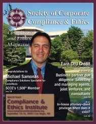 Compliance & Ethics Institute - Society of Corporate Compliance ...
