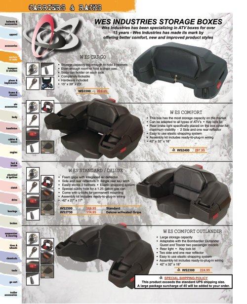 Kolpin Heavy Duty Front or Rear ATV Trail Box Tools Gear Storage Lockable Rack