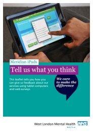 Meridian patient leaflet FINAL - West London Mental Health NHS Trust