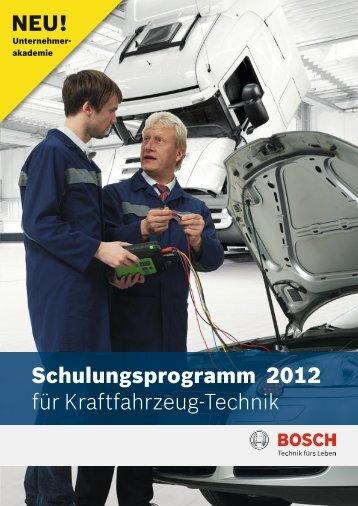 Schulungsprogramm 2012 für Kraftfahrzeug-Technik NEU!