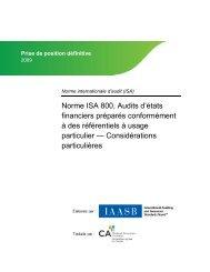Audits d'états financiers préparés conformément à des référentiels à ...
