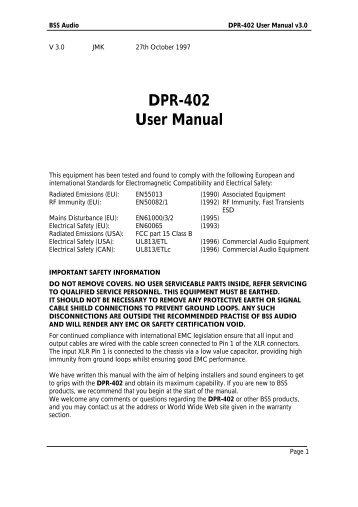 DPR-402 User Manual version 3.0
