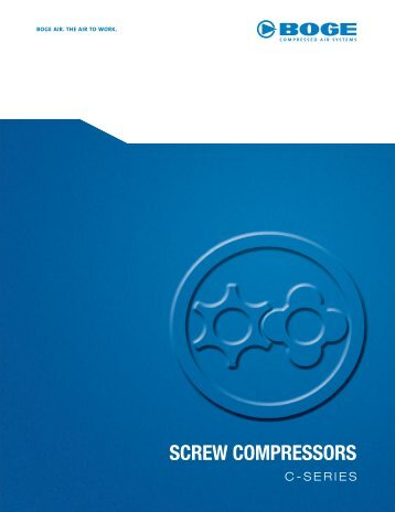 C Series - Rotary Screw Compressors - Fluid Energy