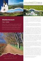 Stellenbosch - The XVIth World Economic History Congress