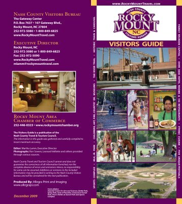 Visitors Guide 2009.indd - Rocky Mount Travel & Tourism