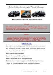 Die Serviceintervalleinstellung bei VW-Audi Fahrzeugen - DigaTool.de