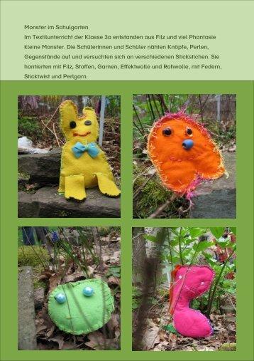 Monster im Schulgarten Im Textilunterricht der Klasse 3a ... - ASLI