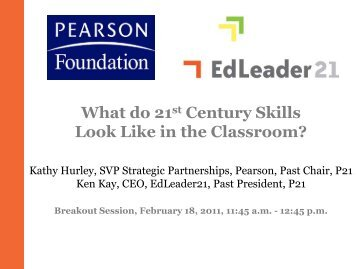 What do 21st Century Skills Look Like in the Classroom?