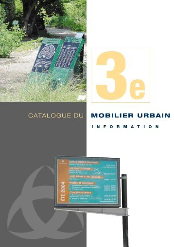 Catalogue : Mobilier d'information - Bordeaux